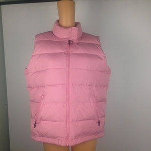 American Eagle Pink Puffer Vest size XL